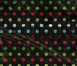 Black Christmas Polkadots Twitter Background - Black & Red Xmas Theme for Twitter