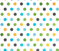 Free Colorful Polkadots Twitter Background - Cute Blue & Orange Theme for Twitter