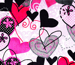Colorful Hearts Twitter Layout - Hearts Twitter Background Image