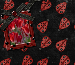 Cute Ladybug Twitter Background - Red Tulips Twitter Theme