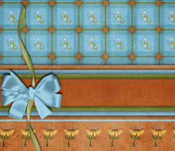 Cute Dragonfly Twitter Background - Orange & Blue Layout for Twitter