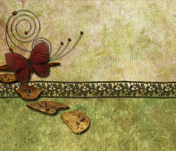 Red Butterfly Twitter Background - Beautiful Earthy Design for Twitter