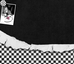 Black & White Checkers Twitter Background - Cute Emo Background Preview