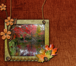 Scenic Fall Colors Twitter Background - Autumn Lake Theme for Twitter