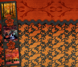 Scenic Fall Twitter Background - Red & Black Autumn Design for Twitter