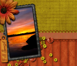 Fall Sunset Quote Twitter Background - Scenic Autumn Theme for Twitter