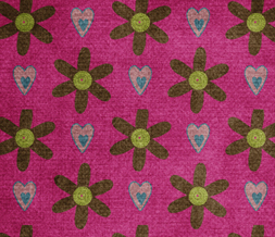 Hot Pink Flowers Twitter Background