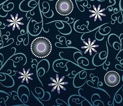 Blue Flower Pattern Twitter Background - Blue & Purple Flower Theme for Twitter