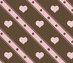 Tiling Brown & Pink Hearts Background for Twitter-Hearts Twitter Background