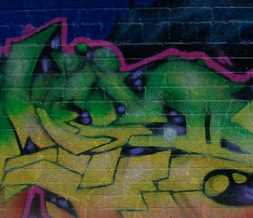 Green & Yellow Graffiti Twitter Background -  New Graffiti Theme for Twitter