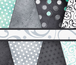 Gray & Blue Polka Dot Twitter Background - Blue & Grey Twitter Layout