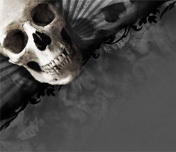 Cool Grey Skulls Twitter Background - Gray & Black Skull Theme for Twitter