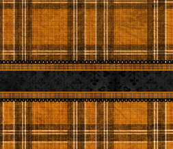 Orange & Black Halloween Twitter Background - Plaid Halloween Theme for Twitter Preview