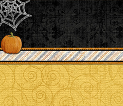 Orange & Black Halloween Quote Twitter Background - Spider Web Theme for Twitter Preview