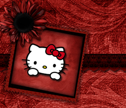 Vintage Hello Kitty Twitter Background - Red & Black Hello Kitty Design for Twitter