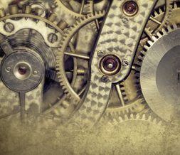 Industrial Gears Twitter Background - Gold Machine Theme for Twitter