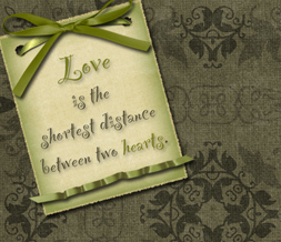 Love Quote Twitter Background - Vintage Layout for Twitter