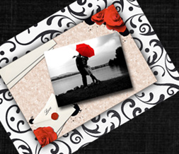Red & Black Vintage Love Twitter Background - Black & White Love Design for Twitter