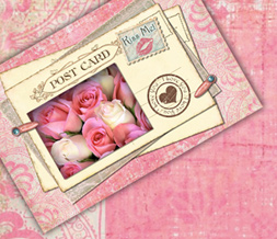 Vintage Flower Twitter Background - Pink Vintage Twitter Layout