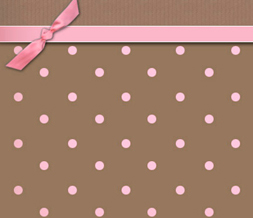 Pink & Brown Polkadot Default Layout - Pink Polkadot Design for Myspace Preview