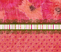 Free Pink Polkadots Twitter Background - Cute Flower Theme for Twitter