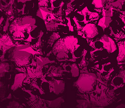 Pink Skulls Twitter Background - Pink Skulls Theme for Twitter