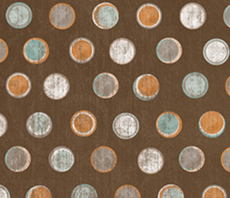 Brown & Orange Polkadot Layout - Brown & Blue Polkadotted Theme for Myspace Preview