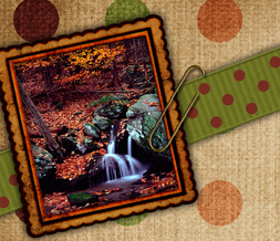 Free Autumn Waterfall Twitter Background - Fall Waterfall Design for Twitter