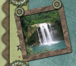 Scenic Waterfall Twitter Background - Beautiful Waterfall Design for Twitter