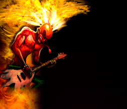 Punk Guitarist Twitter Background - Mohawk Guitar Background for Twitter