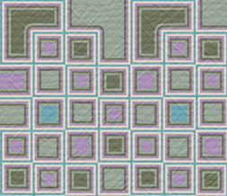 Green & Purple & Blue Squares Pattern Twitter Background