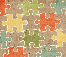 Puzzle Pieces Pattern Twitter Background