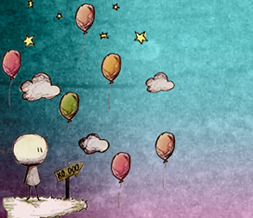Rainbow Balloons Twitter Background - Clouds & Balloons Theme for Twitter