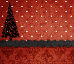 Red & Black Christmas Twitter Background - Free Xmas Tree Theme for Twitter