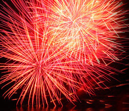 Fireworks Twitter Background -Fireworks Background for Twitter Preview