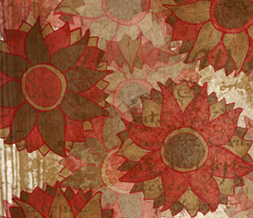 Brown & Red Flower Layout for Myspace - Red & Brown Vintage Flower Theme