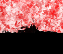 Red Hearts Twitter Background -Hearts Grunge Background for Twitter