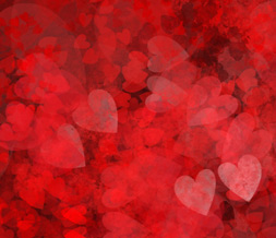 Black & Red Hearts Default Layout- Red Hearts Theme for Myspace