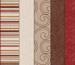 Tiling Red & Brown Striped Twitter Background- Striped Theme for Twitter