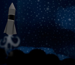 Black Rocket Twitter Background - Blue Rocket Background for Twitter