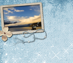 Scenic Mountain Twitter Background - Beautiful Sparkly Theme for Twitter