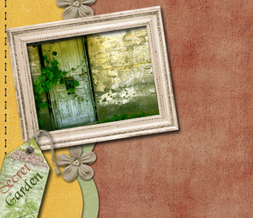 Secret Garden Quote Twitter Background - Ivy Wall Design for Twitter
