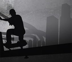 Skateboarding Twitter Background - Twitter Background with Skateboarder Preview