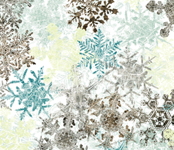 Brown & Blue Snowflakes Twitter Background - Free Snowflake Theme for Twitter