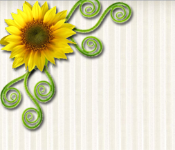 Green & Yellow Sunflower Twitter Background - Yellow Sunflower Theme for Twitter