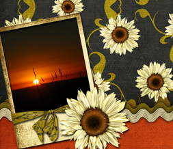 Sunflower Sunset Twitter Background -Sunflower Design for Twitter