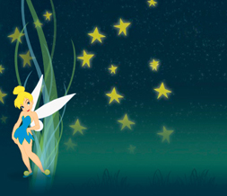 Stars & Tinkerbell Twitter Background - Tinkerbell Background for Twitter