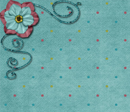 Blue Flower Twitter Background - Blue Polkadotted Flower Background for Twitter