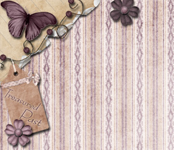 Purple Vintage Butterfly Twitter Background