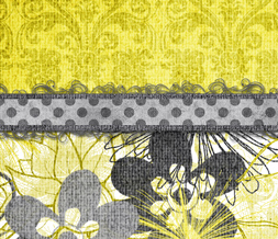 Vintage Flowers Twitter Background - Yellow Vintage Twitter Theme